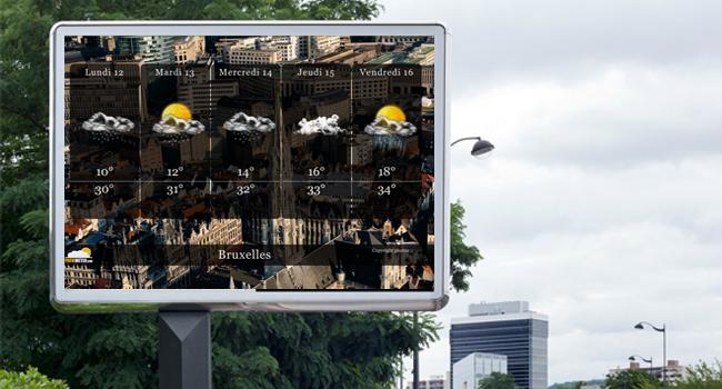 Affichage dynamique : la météo