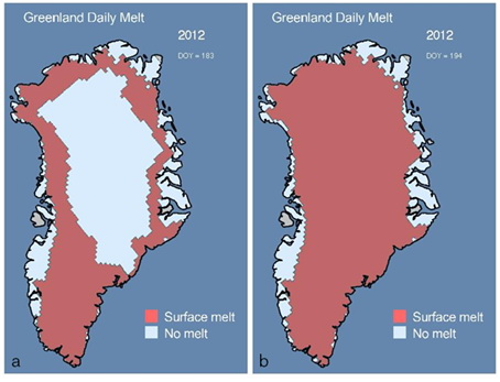 Fonte des glace au Groenland
