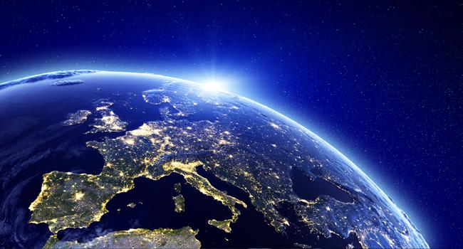 Vue satellite de la Terre